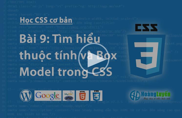 Video học CSS: Các thuộc tính margin và padding trong CSS