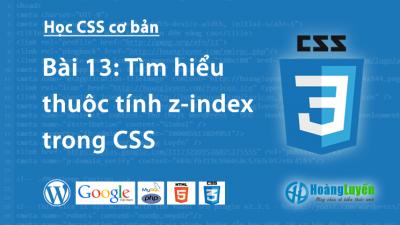 Thuộc tính z-index trong CSS