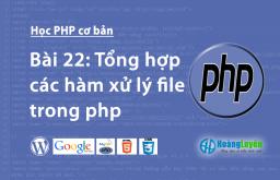 Tổng hợp các hàm xử lý file trong php