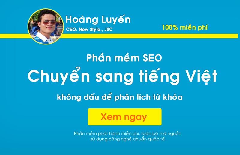Phần mềm SEO - Chuyển sang tiếng Việt không dấu Online