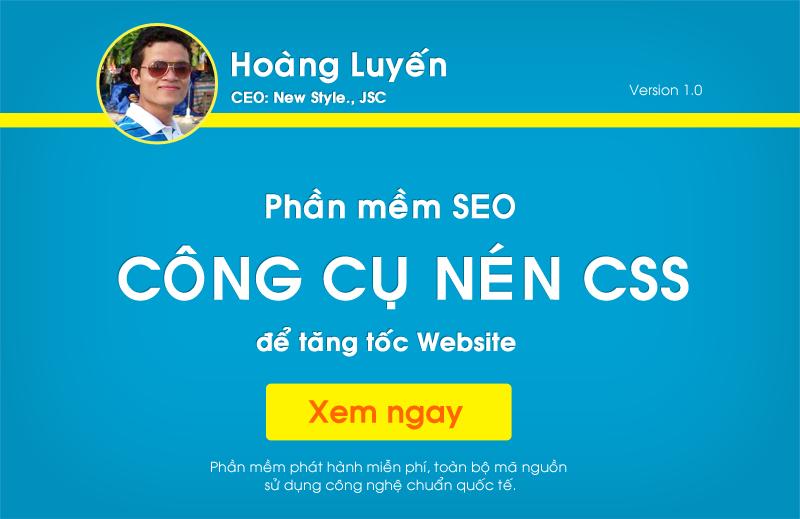 Công cụ nén CSS để tăng tốc Website