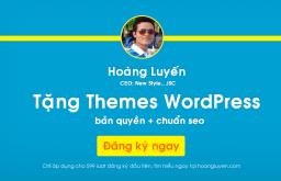 Tri ân độc giả: Tặng Themes WordPress chuẩn SEO
