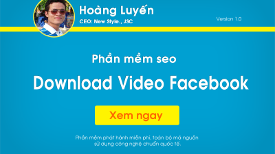Phần mềm Download Video Facebook