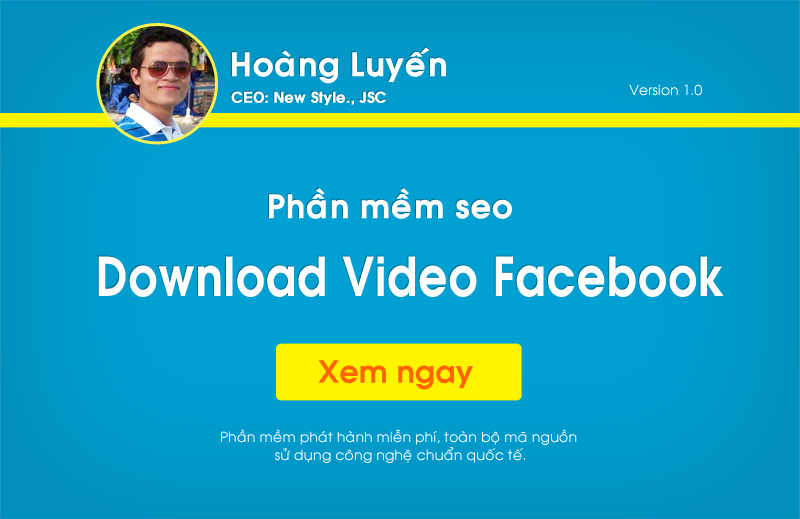 Phần mềm Download Video Facebook